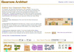 screenshot of Classroom Architect